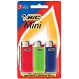 BIC Mini Lighter, 3-Pack, Assorted Colors