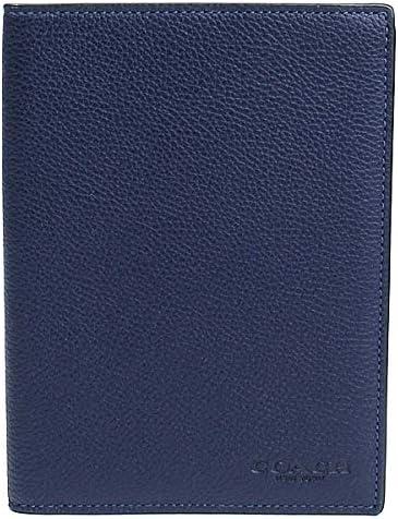 パスポートケース パスポートカバー メンズ レディース レザー ネイビー系カデット 93604-qbp5h [並行輸入品]