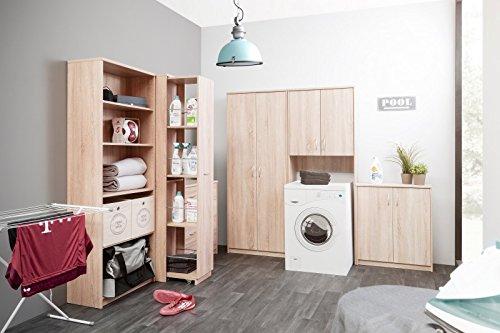 Waschmaschinenschrank jaiden 42 hochschrank badregal 68x188x35