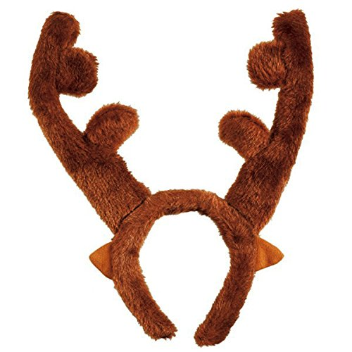 Reindeer Plush Fabric Antler Headband | Christmas -