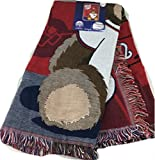 "Northwest MLB Field Bear Woven Jacquard Baby Throw, 36"" x 46"""
