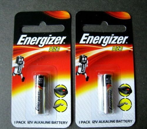 (Energizer A27 27A Key Remote Alkaline 12V battery #GTC## x 2 PCS)