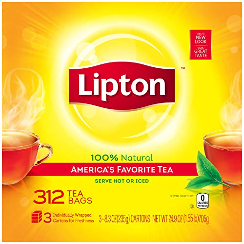 Lipton Black Tea Bags, America's Favorite Tea, 312 Count ()