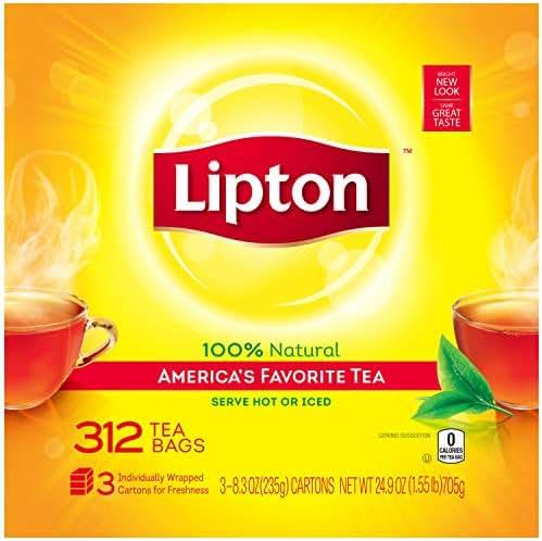 Lipton Black Tea Bags, America's Favorite Tea, 312 Count