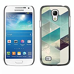 LECELL--Funda protectora / Cubierta / Piel For Samsung Galaxy S4 Mini i9190 MINI VERSION! -- Polygon Surf Summer Sun Pattern --