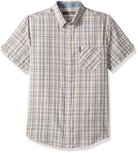 Ben Sherman Men's Multi Check Shirt, Gold Medium