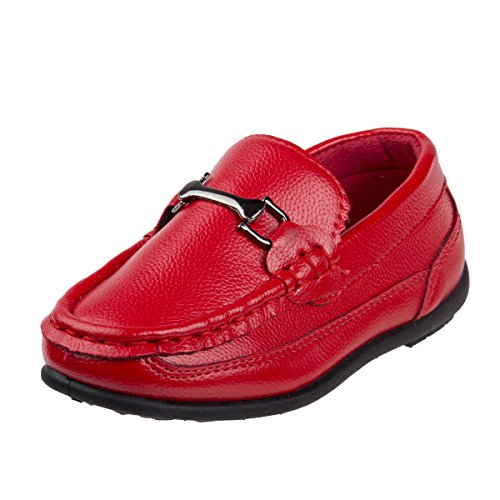 Josmo Boys Casual Driving Slip-on Shoe (Toddler, Little Kid, Big Kid) (8 M US Toddler, Red Fancy)' by Josmo
