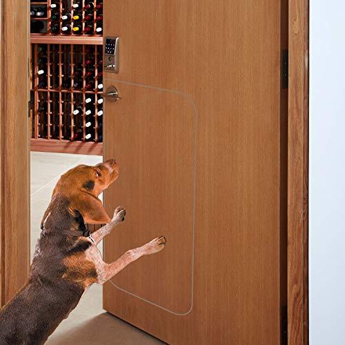IN HAND Deluxe Pet Door Scratch Shield, Heavy Duty Flexible Door Guard Cover Protect Your Doors & Walls, Large Clear Door Scratch Protector (36.5 L X 17 W)