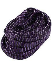 X-DREE 8mm Dia Tight Braided PET Expandable Sleeving Cable Wrap Sheath Black Purple 10M Length (Gaine d'enveloppe de câble de gaine de câble d'ANIMAL FAMILIER tressé serré dia de diamètre de 8mm longu