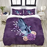 VAMIX Duvet Cover Set, Ballerina Dancer Odile Black swan Lake, Decorative 3 Piece Bedding Set with 2 Pillow Shams