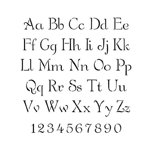 Simple Script Alphabet Stencil - 3 inch - 7.5 mil Standard by stencil ease