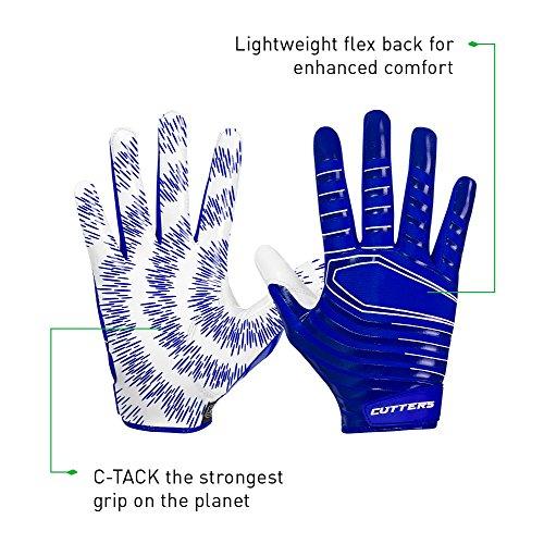 Cutters Football Glove, Best Grip Football Gloves, Lightweight & Versatile, Youth & Adult Sizes, 1 Pair – DiZiSports Store