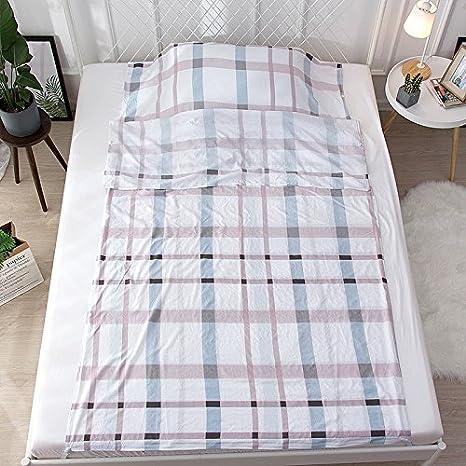 Zhiyuan Plaid - Sábana para saco de dormir (algodón lavable)