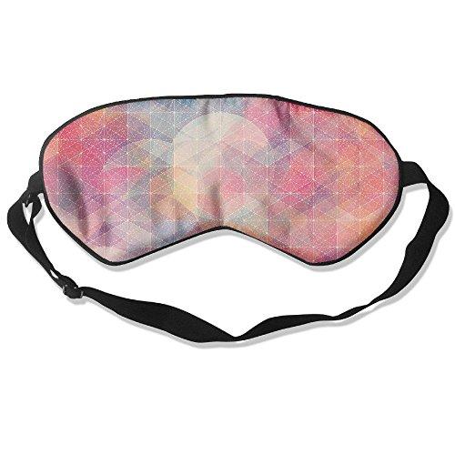 WUGOU Sleep Eye Mask Graphic Pattern Lightweight Soft Blindfold Adjustable Head Strap Eyeshade Travel Eyepatch