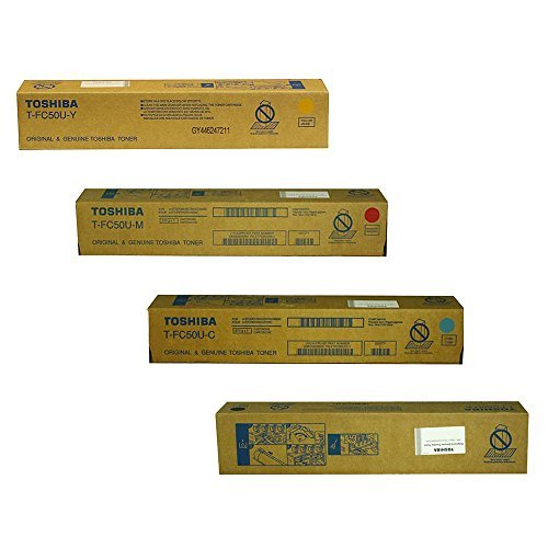 (Toshiba TFC50UK, TFC50UC, TFC50UM, TFC50UY Standard Yield Toner Cartridge Set)
