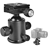 UTEBIT Ball Head 36mm Tripod Ball Heads with 50mm Quick Release Plate 360 Degree Swivel Fluid Rotation Ballhead with 1/4 Arca Plate for Monopod Slider DSLR Camera Camcorder