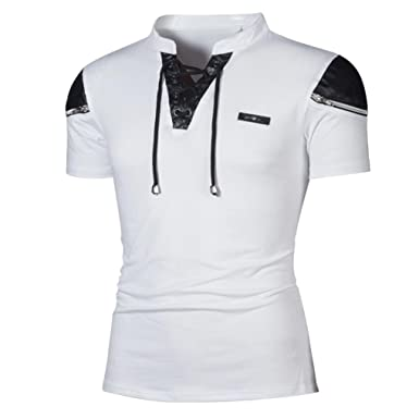 T-Shirts   Polos Homme,Covermason Hommes Polo Chemise Manche Courte T-Shirt 9da82a6577ee