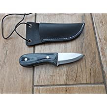 Craftsman Made Neck Knife - Micarta and 01 Carbon Tool Steel - Perfect for Bushcraft, Hunting and Camping