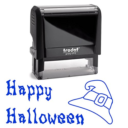 Blue Self Inking Stamp To From Gift Tag Stamper. Great for Halloween Cards, Treat Bag Naming, Birthday Gifts, October Wedding Gift Naming, Present Label 2 Lines = 3/4 X 1 7/8 Inches