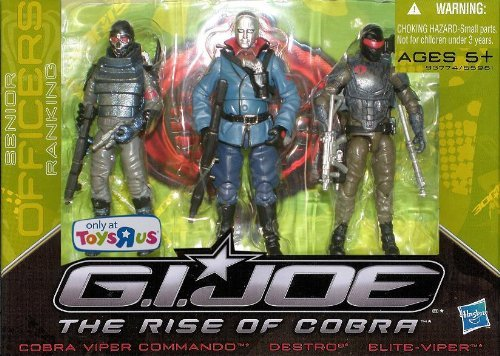 G.I. Joe The Rise of Cobra Exclusive Action Figure 3-Pack Destro, Cobra Viper Commando and Elite-Viper