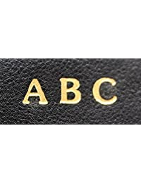 Monogram add-on for an ASHLIN accessory Personalized Monogram Wallet, Initial(SILVER FOIL)