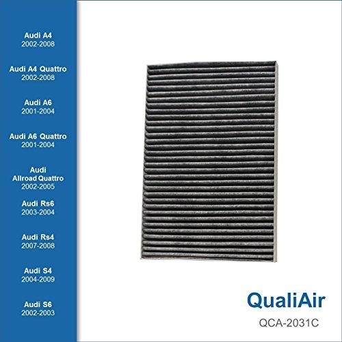 QualiAir QCA-2031C, Activated Carbon Cabin Air Filter for Audi (1Pack)