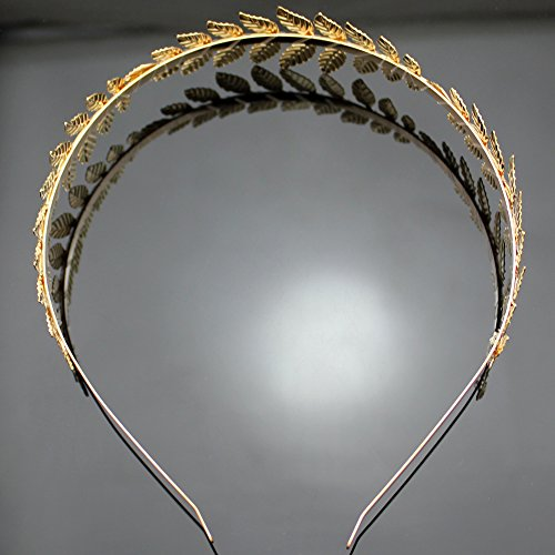 Gold Plated Q&Q Fashion Roman Goddess Leaf Branch Dainty Bridal Hair Crown Head Dress Boho Alice Band