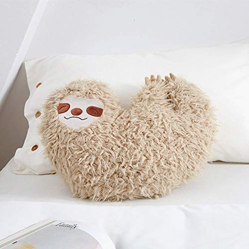 Huhu Ma 16'' Sloth Pillow, Animal Pillow (Man's Smiling face) ()
