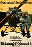 WA93 Vintage WWI German Aviation Motorenfabrik Oberursel War Poster WW1 Re-Print - A2+ (610 x 432mm) 24