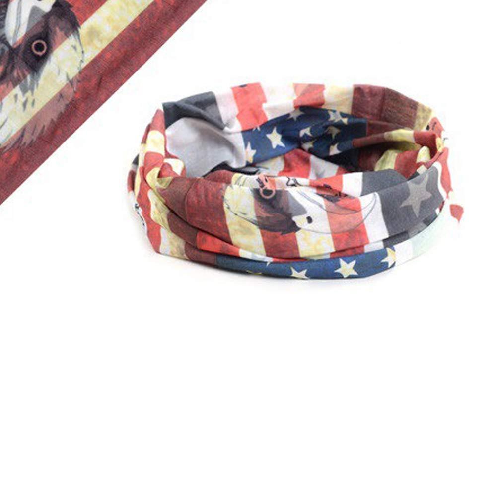Printing Face Mask Bandana,UV Sun Protection Set Elastic Multifunctional Magic Scarf Headband Cover