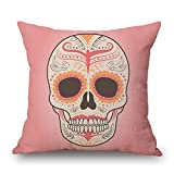 Uloveme 16 X 16 Inches / 40 By 40 Cm Skull Throw Cushion Covers,2 Sides Is Fit For Husband,dance Room,dining Room,girls,christmas