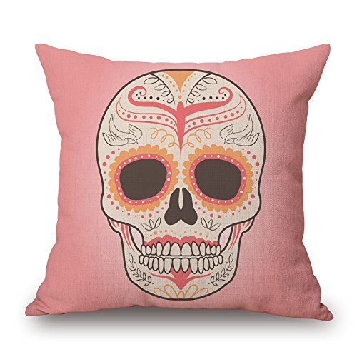 Slimmingpiggy Skull Throw Pillow Case ,best For Bar,wedding,office,home Theater,son,valentine 16 X 16 Inches / 40 By 40 Cm(both ()