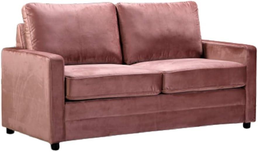 Amazon Com Us Pride Furniture Knightsville Velvet 70 Square Arms Sofa Bed Sofabed Rose Furniture Decor