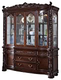 Product review for Meridian Furniture 701-HB Barcelona Solid Wood Dining Room Hutch and Buffet / China Cabinet with Traditional French Provincial Handcrafted Designs, Rich Cherry Finish