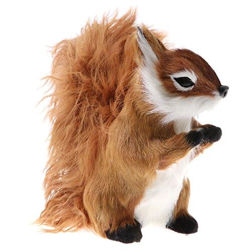 (Baoblaze Lifelike Simulation Plush Stuffed Animals Model Figurine Kids Science Nature Toys Home Decoration - Brown Squirrel)