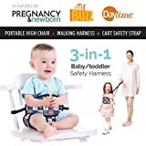 Portable High Chair by Lucky Baby. 3-in-1 Toddler &...