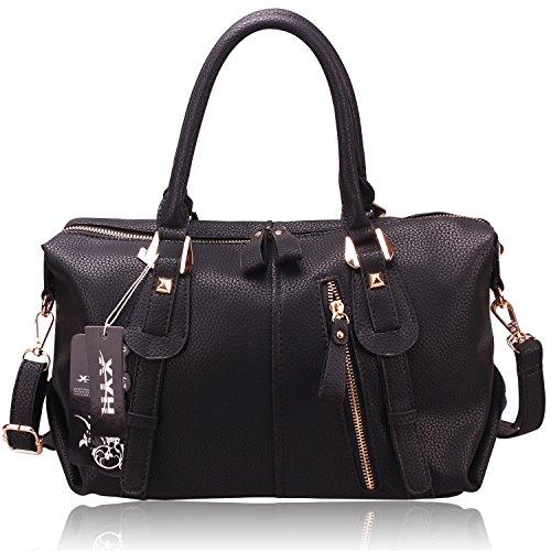 XYH Shoulder Handbags Ladies Faux Leather Handbags Large Womens Bags Tote Bags for Women
