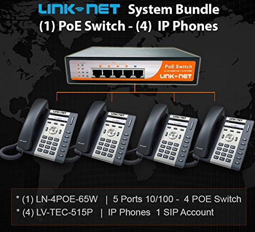 voip-special-bundle-1-poe-switch-10-100-5-ports-and-4-ip-phones
