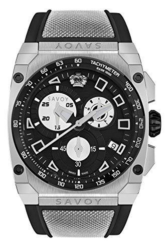 Savoy Icon Extreme - Chrono - Black Dial - Black Strap Men's Watch