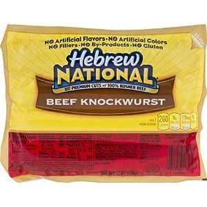 Hebrew National Beef Knockwurst 12 Oz (6 Pack): Amazon.com