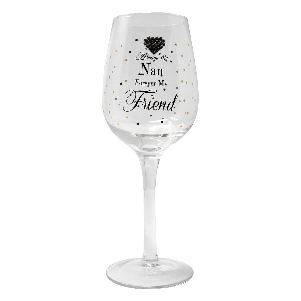 Always My Nan Forever My Friend Gift Boxed Wine Glass By Mad Dots