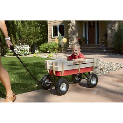 Kotulas All-Terrain Red Wagon, 220-Lb. Capacity -