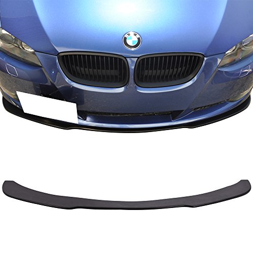 Front Bumper Lip Fits 2006-2013 BMW E90 E92 | U1 Style PU Front Lip Finisher Under Chin Spoiler Add On by IKON MOTORSPORTS | 2007 2008 2009 2010 2011 2012