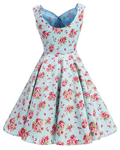 Bridesmay Snni Retro Red Small Swing Vestitos Partito Flower Donna '50 Vintage Abiti rtCwrFxq
