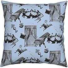 Roostery Spooky Velvet Throw Pillow Cover Poltergeist by Louisehenderson Cover Only by
