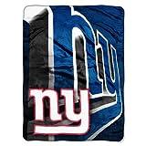 "The Northwest Company Officially Licensed NFL New York Giants 60"" x 80"" Micro Raschel Blanket, Bevel Design"