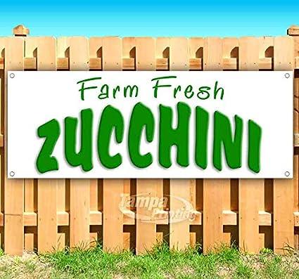 Farm Fresh Zucchini cartel de vinilo resistente con ojales ...
