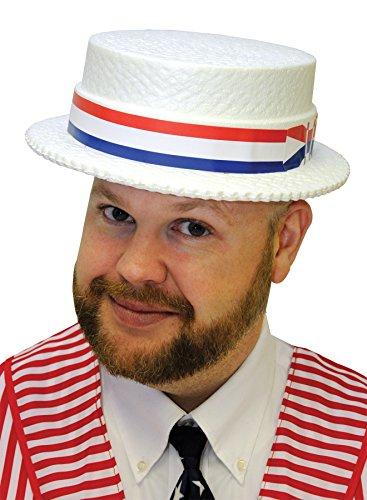 Styrofoam Straw Skimmer Hat (Pack of 24 hats) (Skimmer Styrofoam Hats)