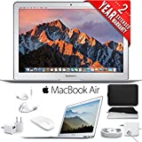 6Ave Apple 13.3 MacBook Air (Mid 2017, Silver) + Padded Case For Macbook + 2-Year Extended Warranty Bundle