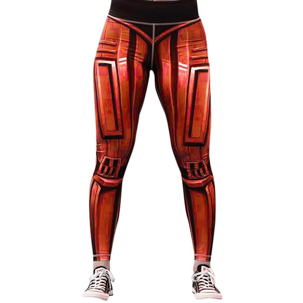 iLUGU Womens Fashion Workout Junior Leggings Work Out Pants Fitness Sports Gym Running Yoga Yoga Athletic Orange